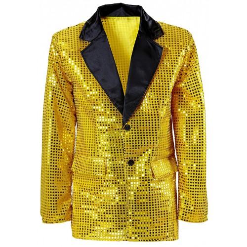 Veste pailletée or