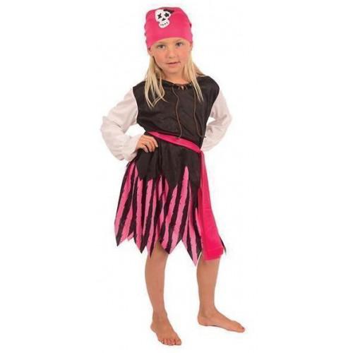 Déguisement petite pirate rose