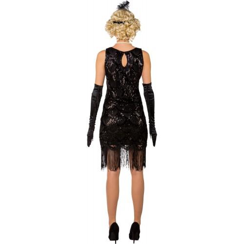 Robe Charleston noire de luxe