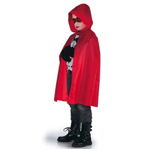 Cape rouge enfant avec capuche