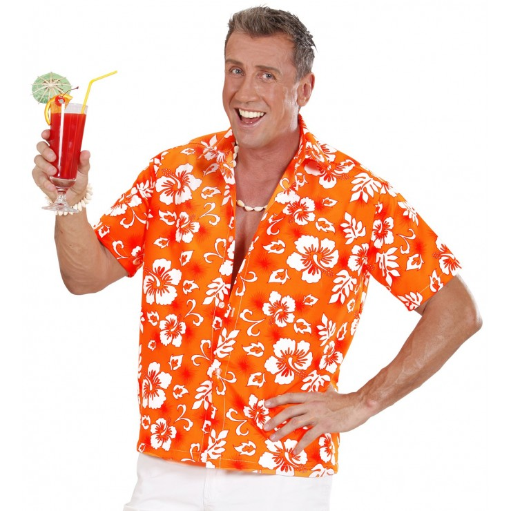 Chemise Hawaïenne orange