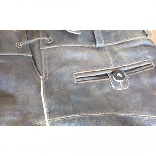 Lederhose Cuir Luxe brun retro