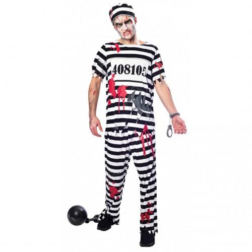 Déguisement prisonnier zombie adulte