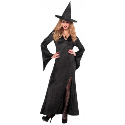 Robe sorcière noire adulte