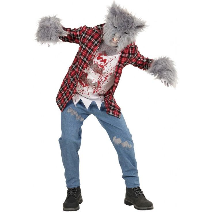 Déguisement loup garou gris