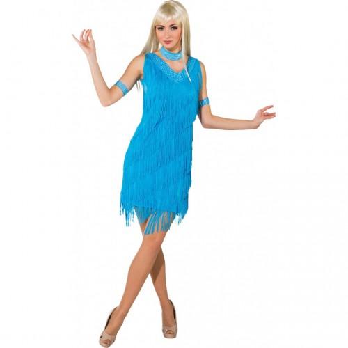 Costume Charleston bleu