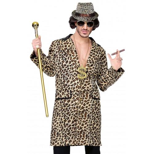 Manteau pimp léopard
