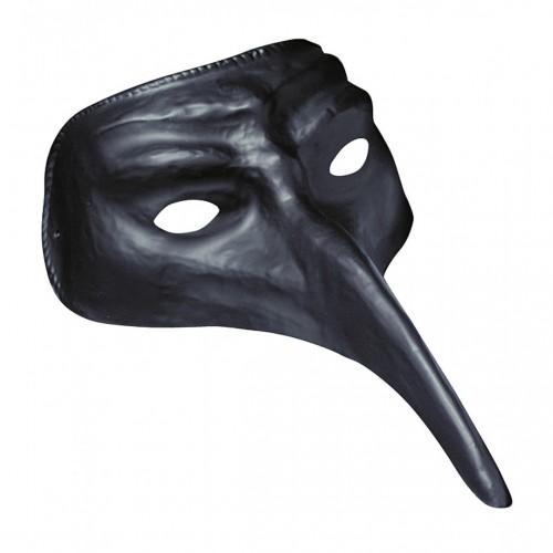 Masque vénitien long nez noir