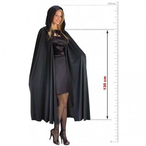 Cape & Capuche noire 130 cm