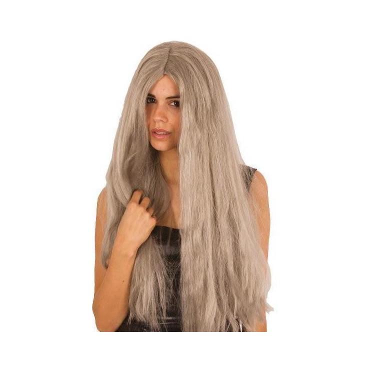 Perruque extra longue grise
