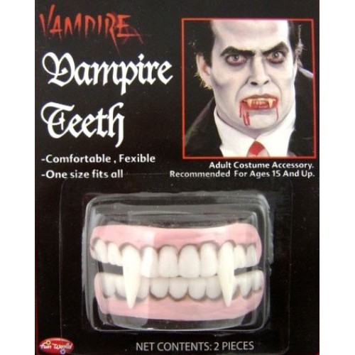 Fausses dents de vampire