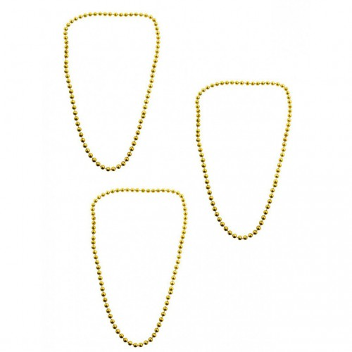 Collier perles or x3