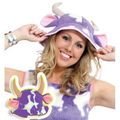 Chapeau vache lila