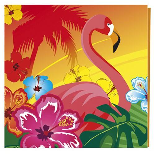 Serviettes Hawaï x12