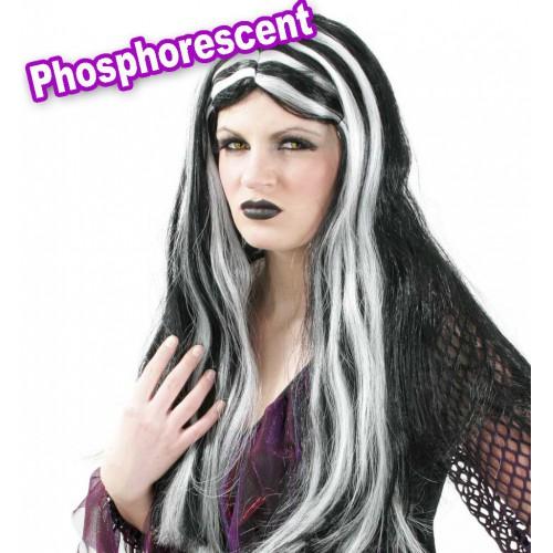 Perruque sorcière phosphorescente