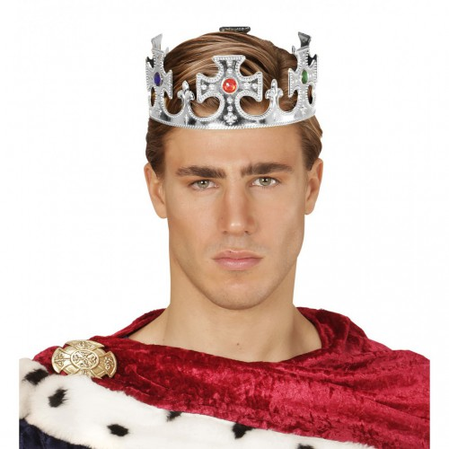 Couronne de roi argentée