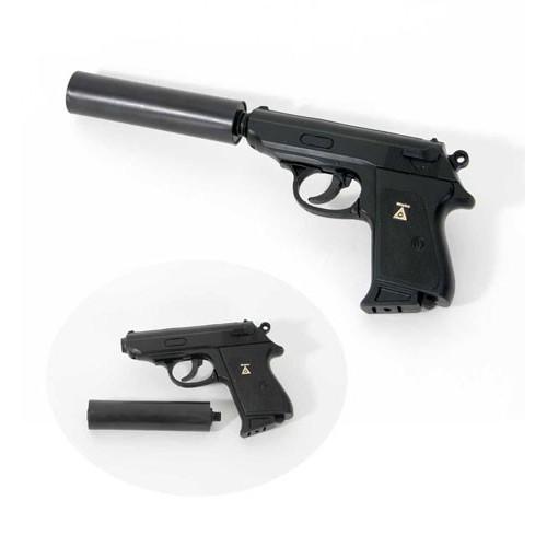 Pistolet avec silencieux