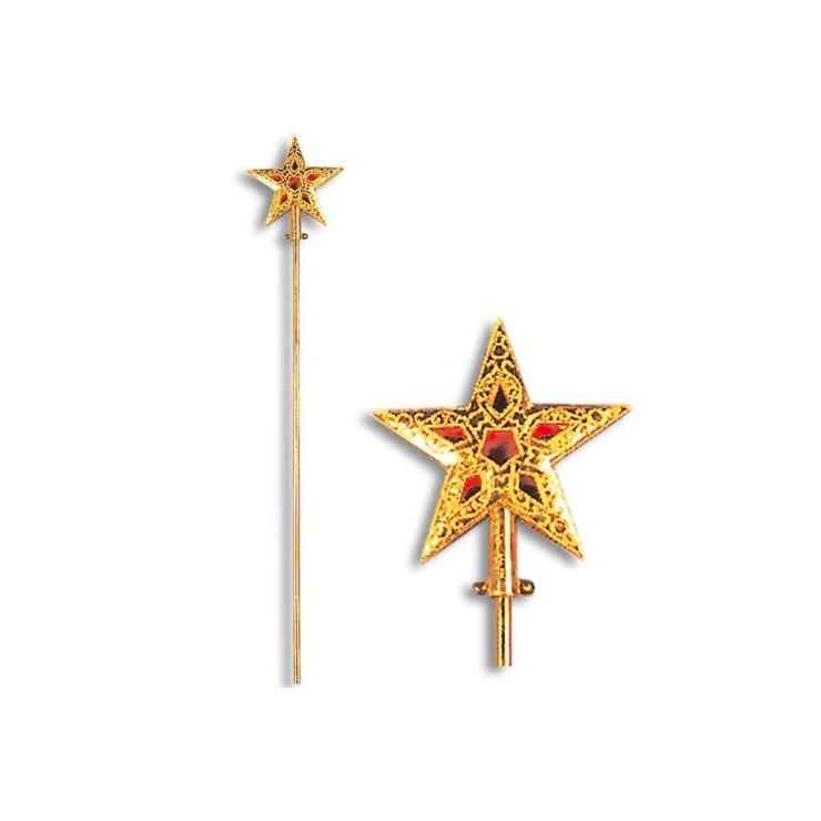 Baguette étoile dorée