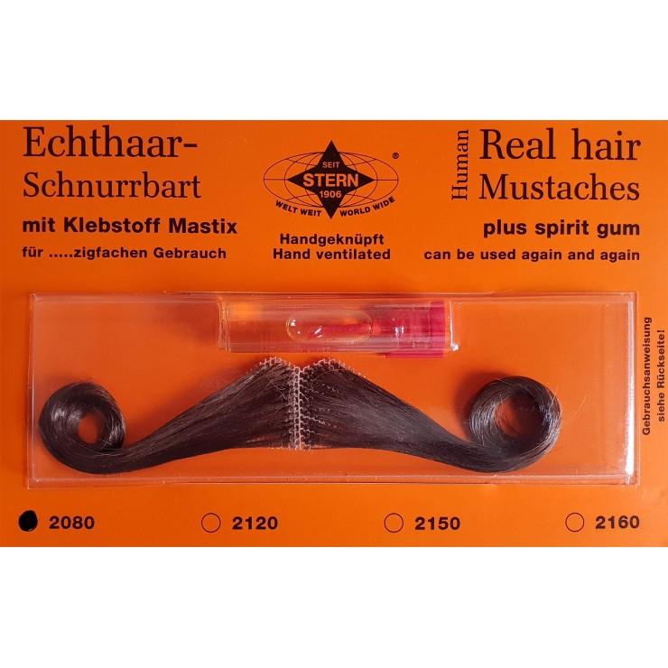 Moustache Gay brune luxe