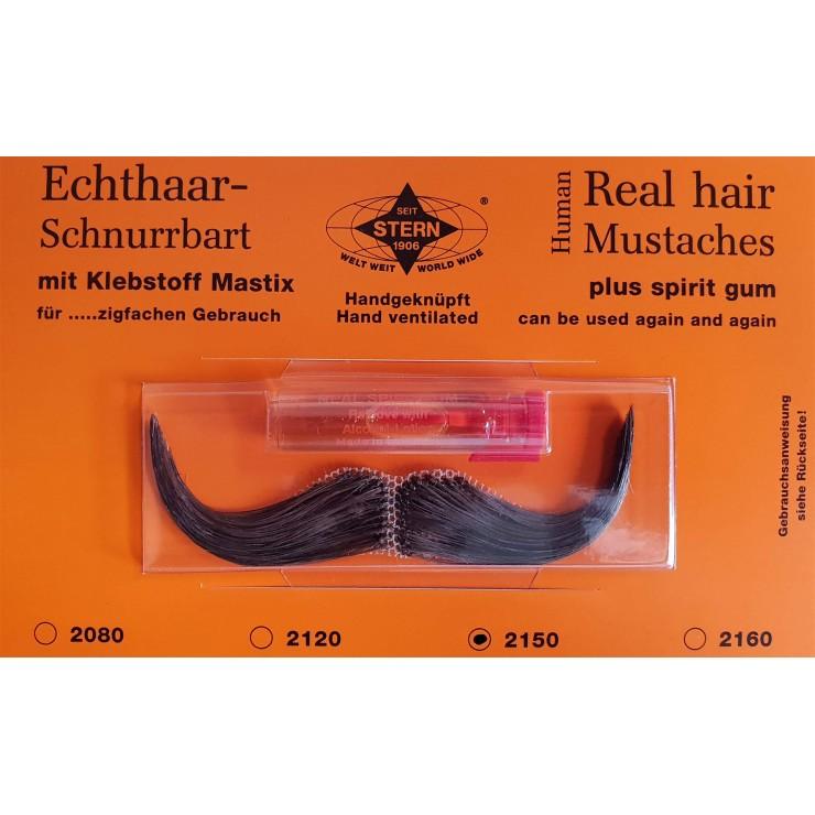 Moustache Elégan brune luxe