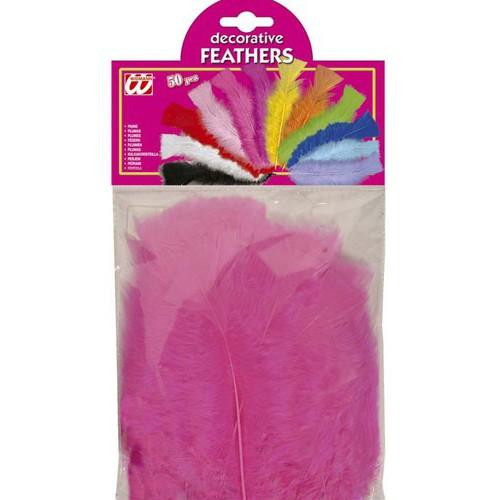 50 plumes fushias 10 cm