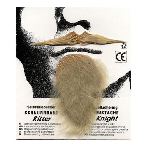 Moustache chevalier blonde