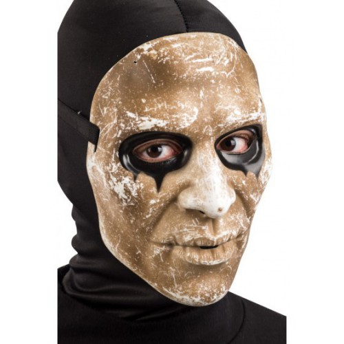 Masque zombie horreur aux yeux noirs