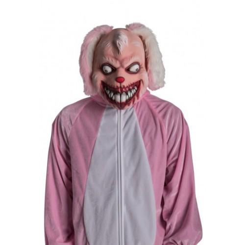 Masque de lapin rose méchant