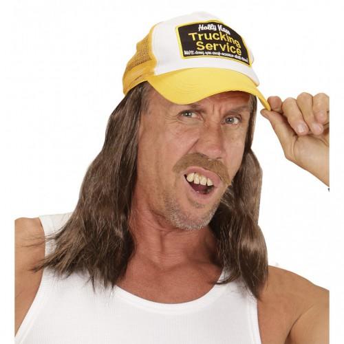 Casquette de routier avec cheveux