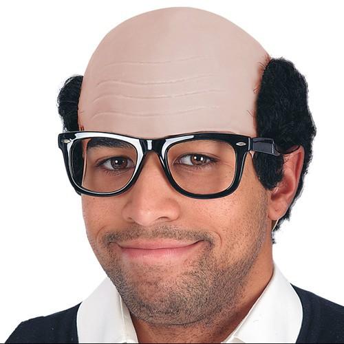 Chauve avec lunettes