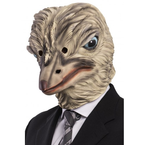 Masque d'autruche en latex