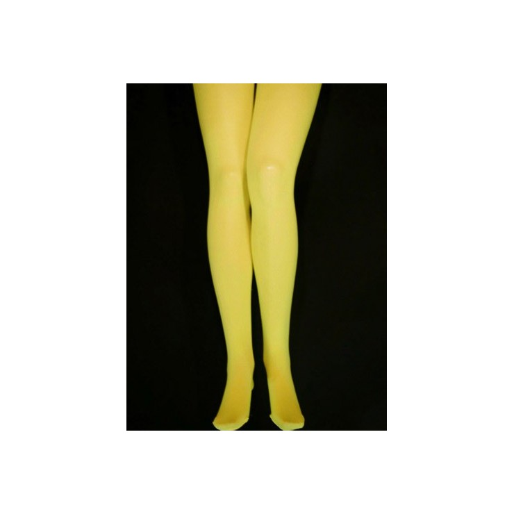 Collant jaune opaque XXXL