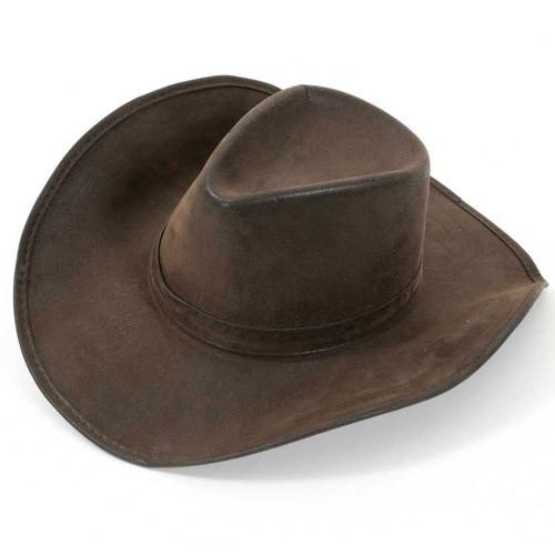 Chapeau Cowboy aspect cuir