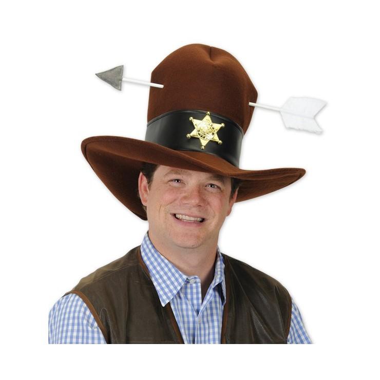 Chapeau cowboy attaqué