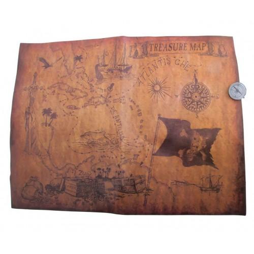 Carte aux trésors avec boussole