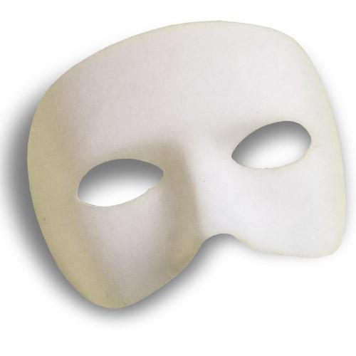 Demi-masque blanc tissu
