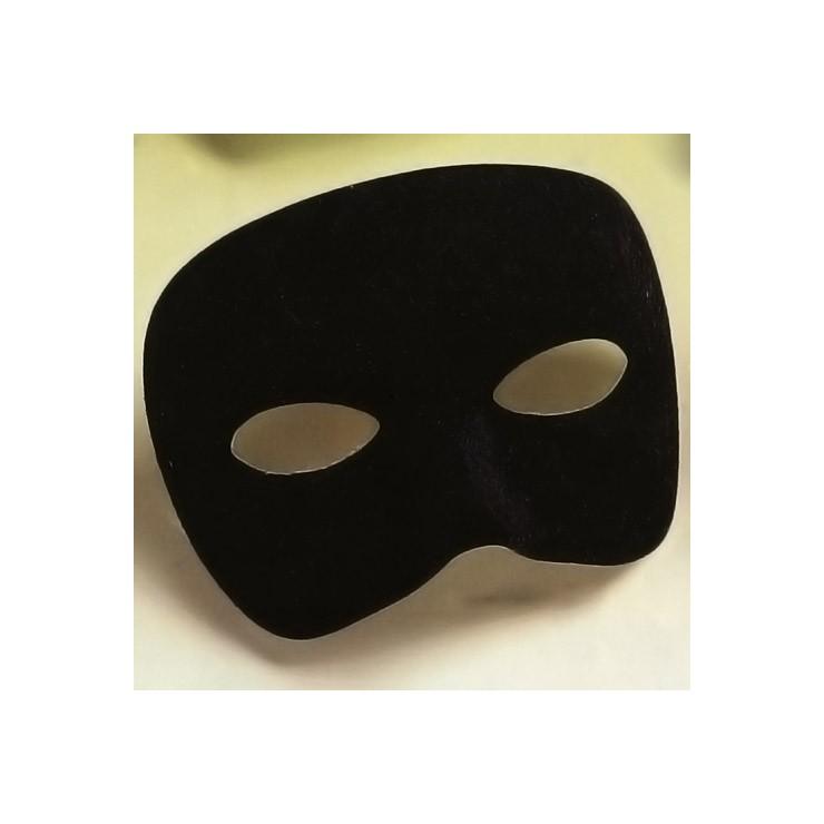 Demi-masque noir tissu