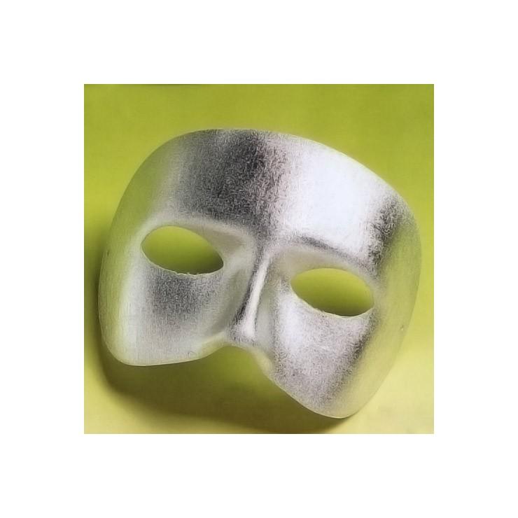 Demi-masque Casanova argenté