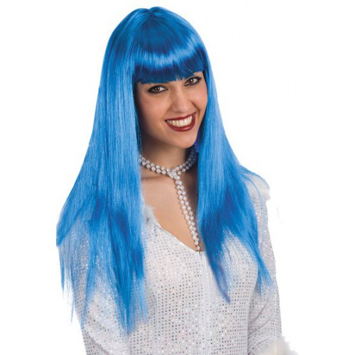 Perruque vanity bleue