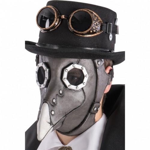 Masque de corbeau steampunk