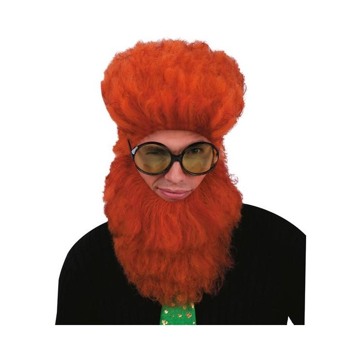 Barbe et perruque rousse