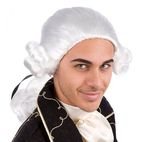 Perruque chevalier blanche