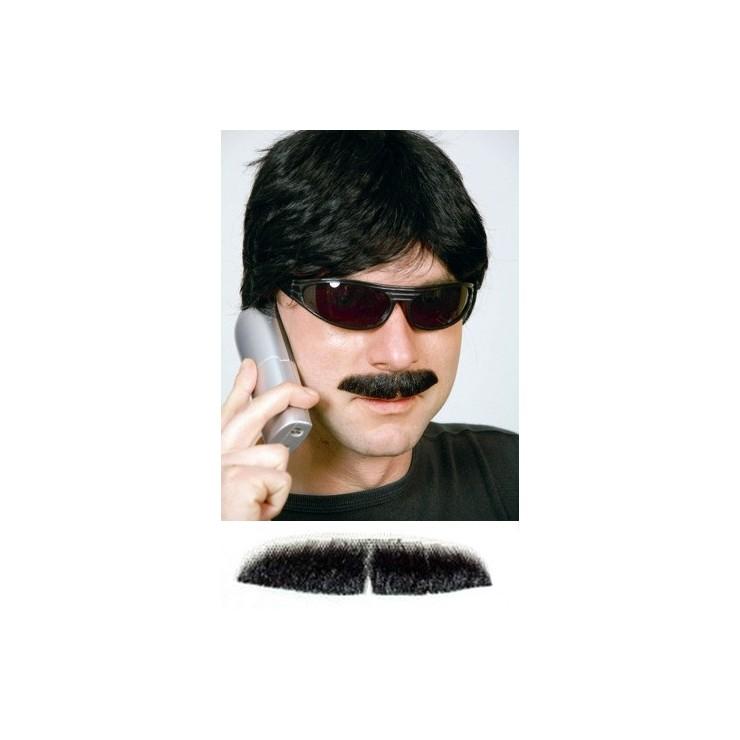 Fausse moustache noire de luxe