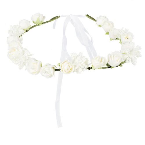Couronne de fleurs blanches