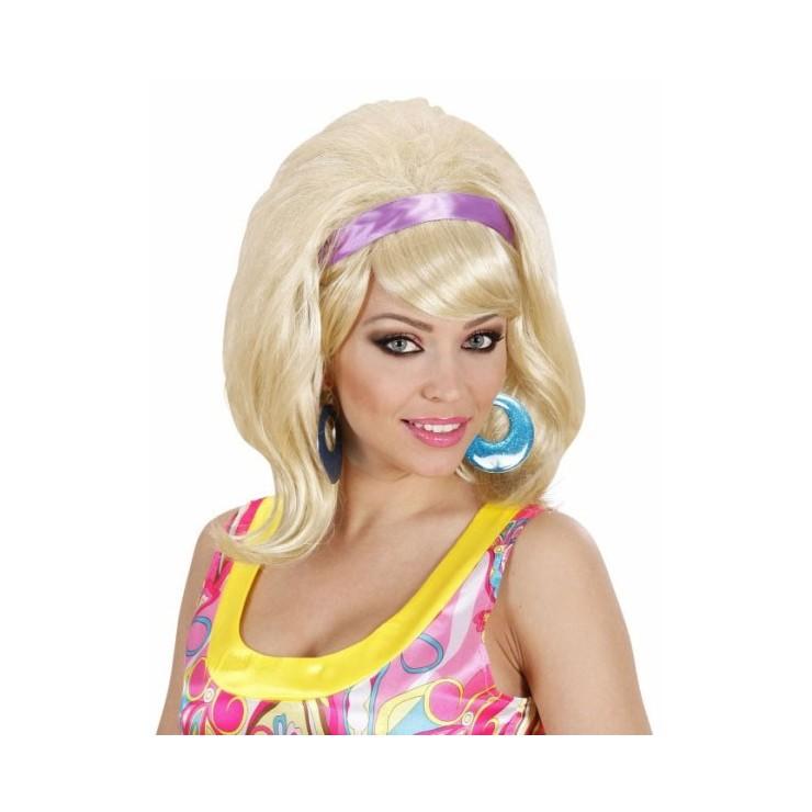 Perruque années 60 blonde