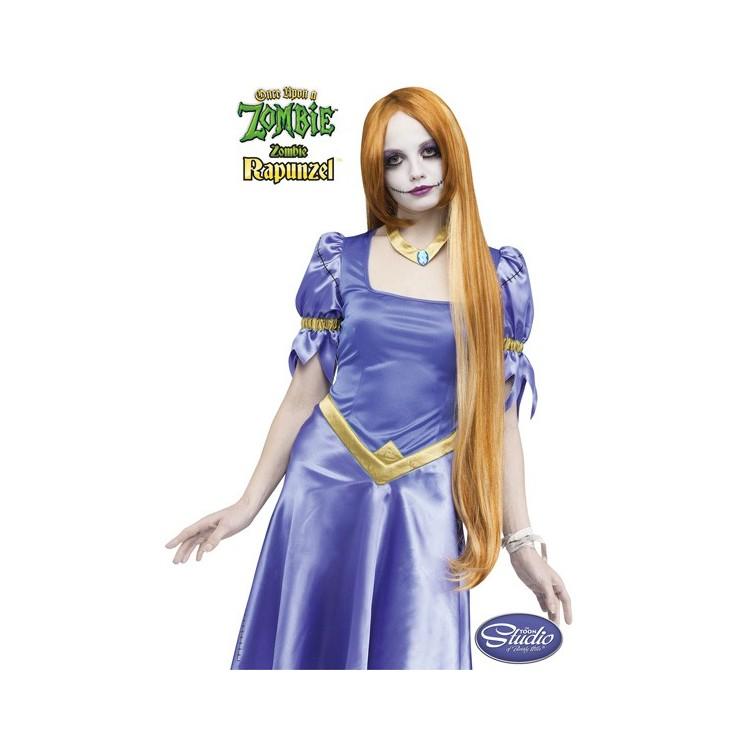 Perruque Rapunzel zombie