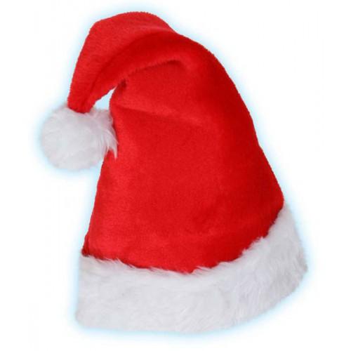 Bonnet père Noël peluche