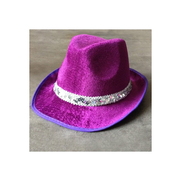 Borsalino velours violet