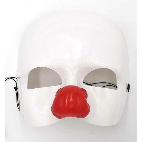 Masque clown blanc