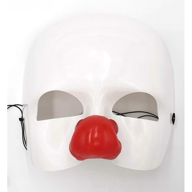 Masque clown blanc